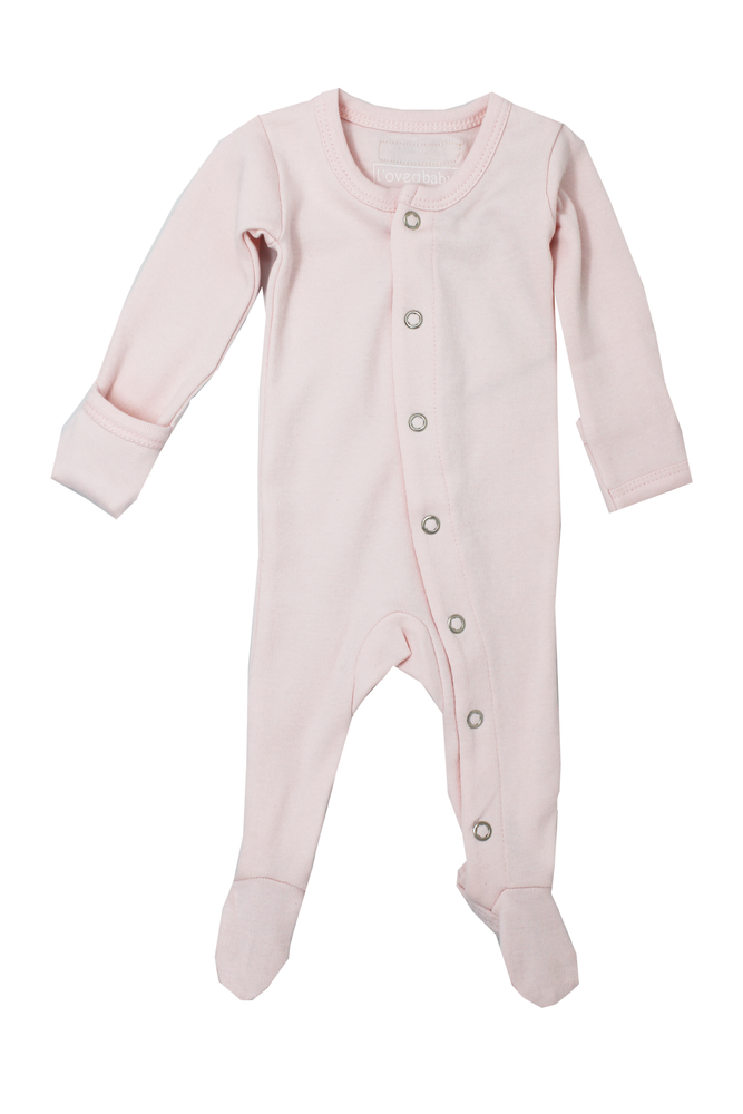 Blush Organic Footed Overall