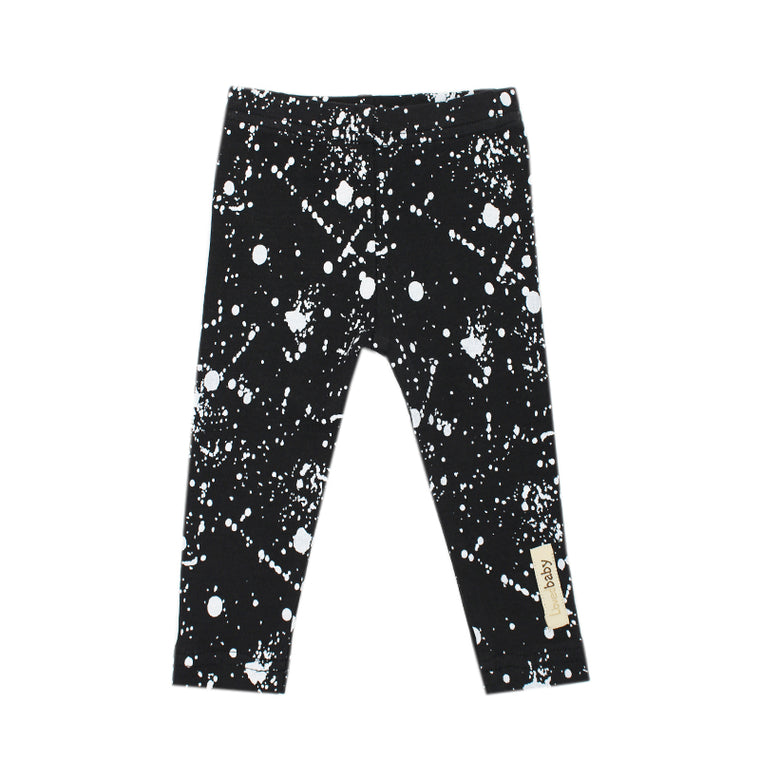 Black Splatter Organic Leggings