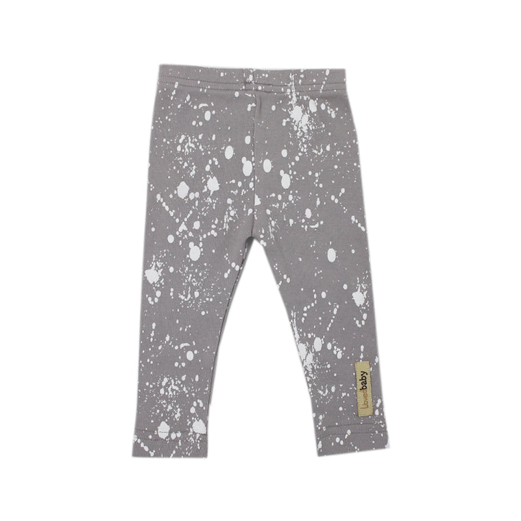Light Gray Splatter Organic Leggings