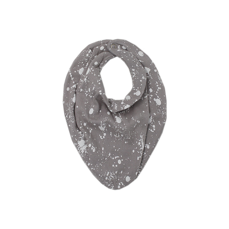 Light Gray Splatter Bandana Bib