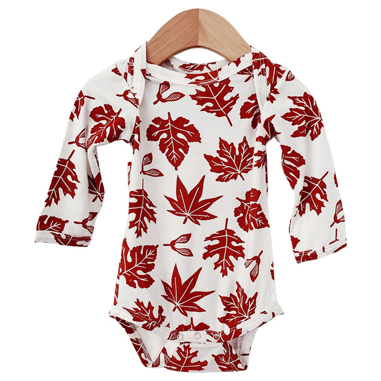 Autumn Leaf Long Sleeve Bodysuit