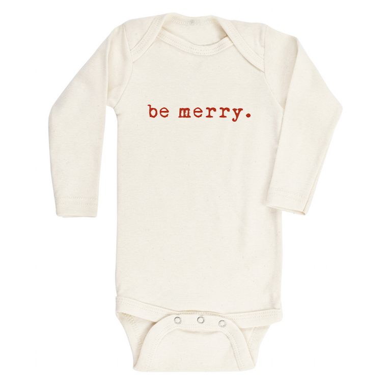 Be Merry Organic Long Sleeve Bodysuit