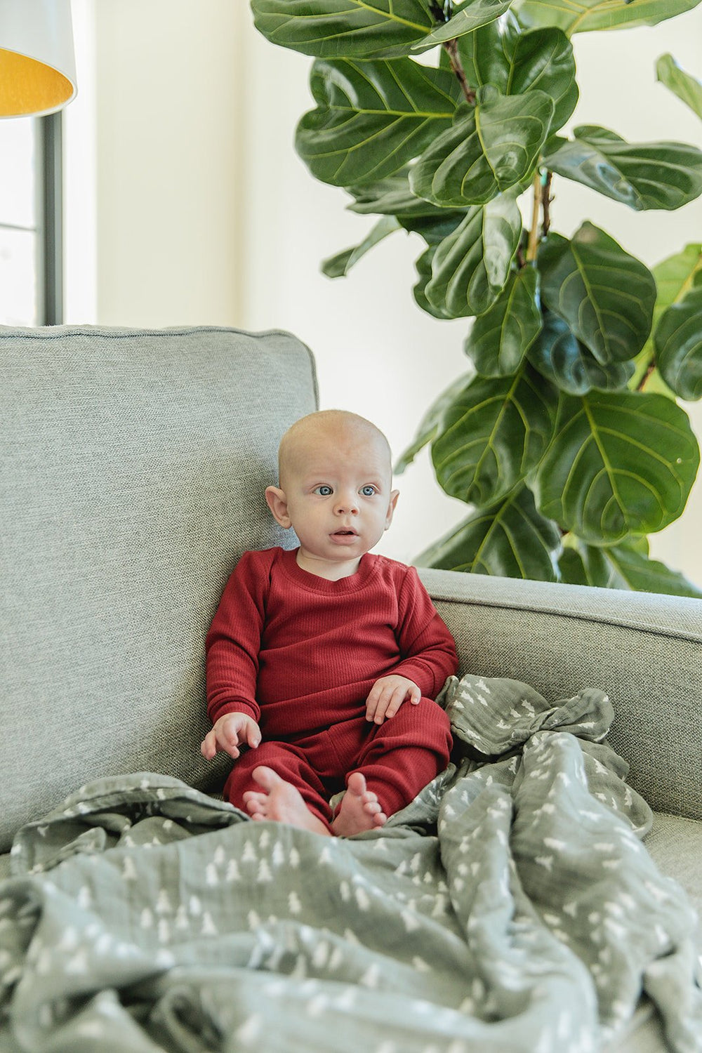 Berry Holiday Ribbed Two-Piece Cozy Set