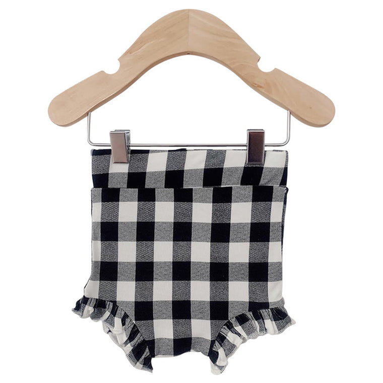 Black Gingham Ruffle Bloomer