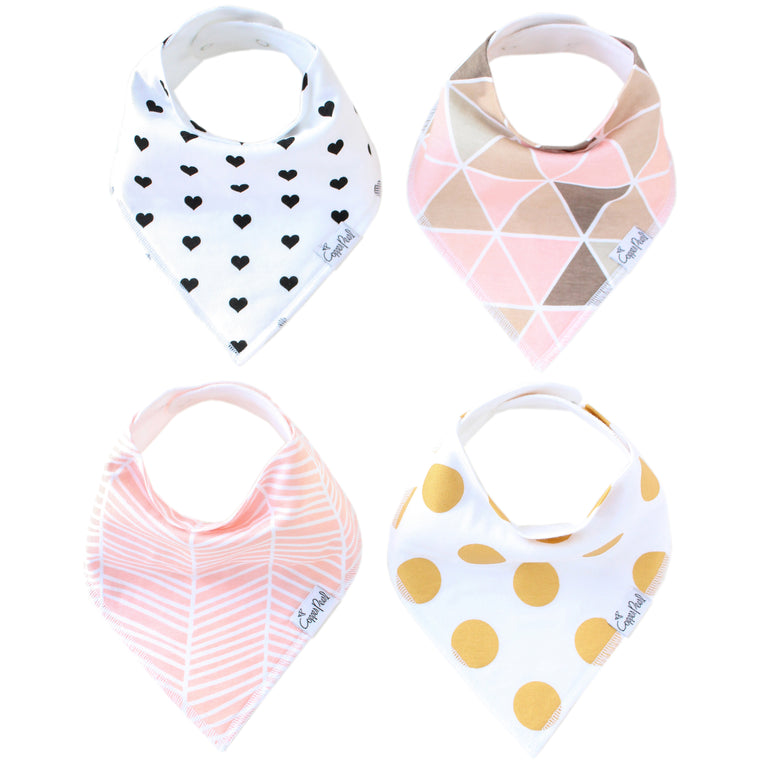 Blush Bandana Bib Set