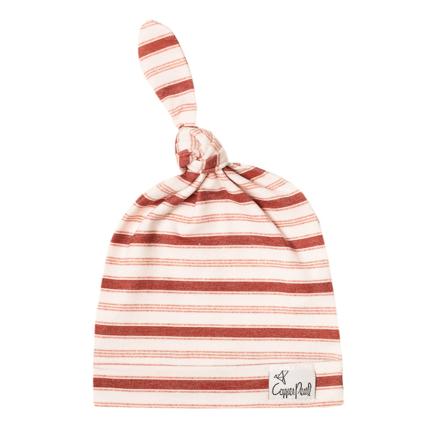 Cinnamon Newborn Top Knot Hat