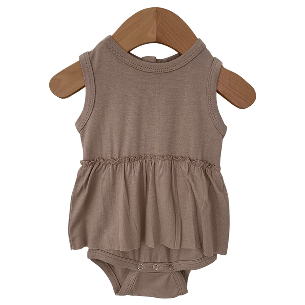 Clay Sleeveless Skirted Bodysuit