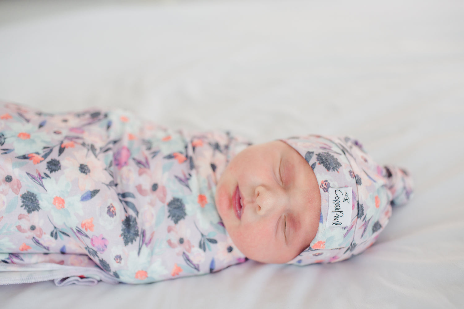 Morgan Newborn Top Knot Hat