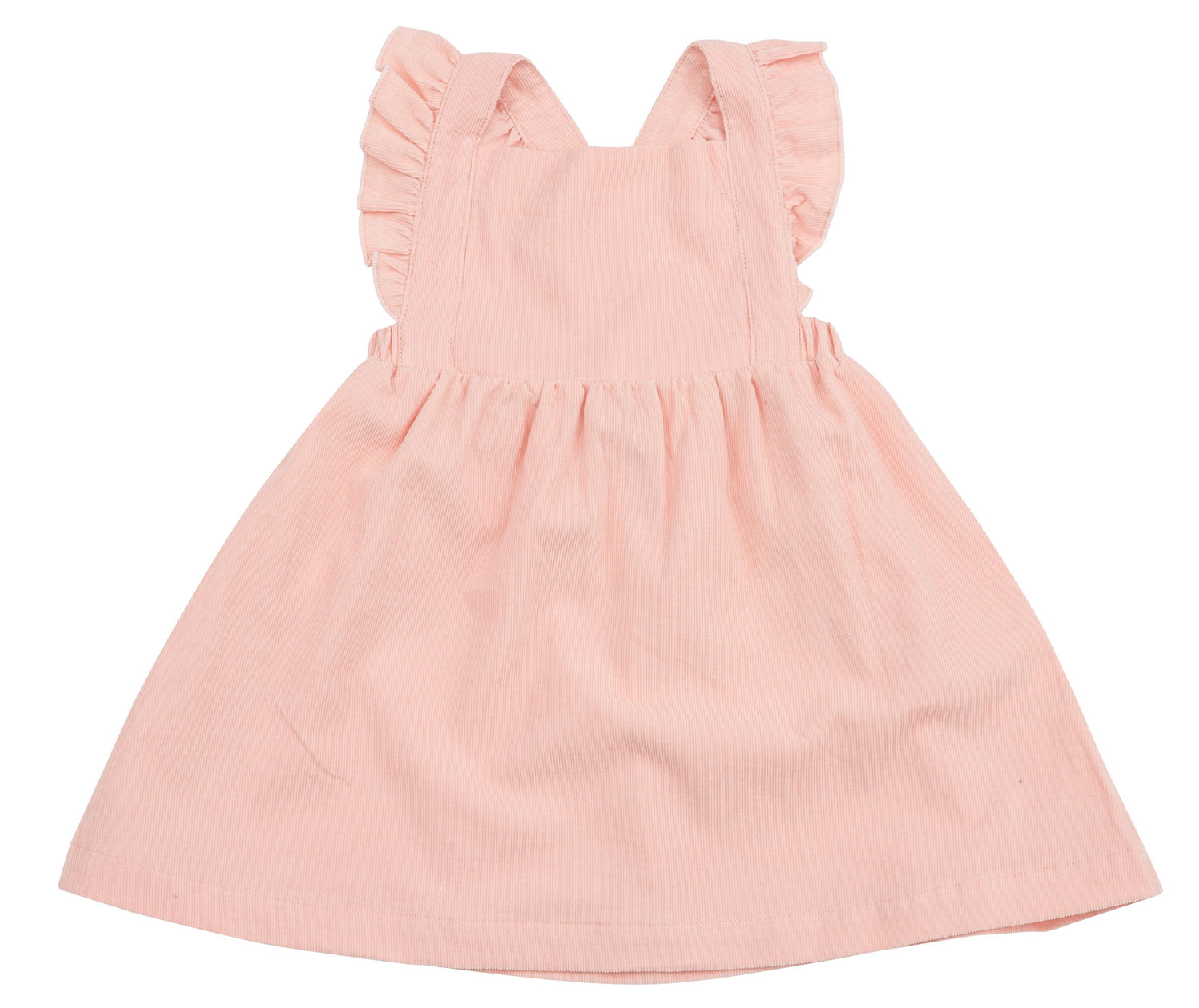 Pink Corduroy Pinafore Dress and Bloomer