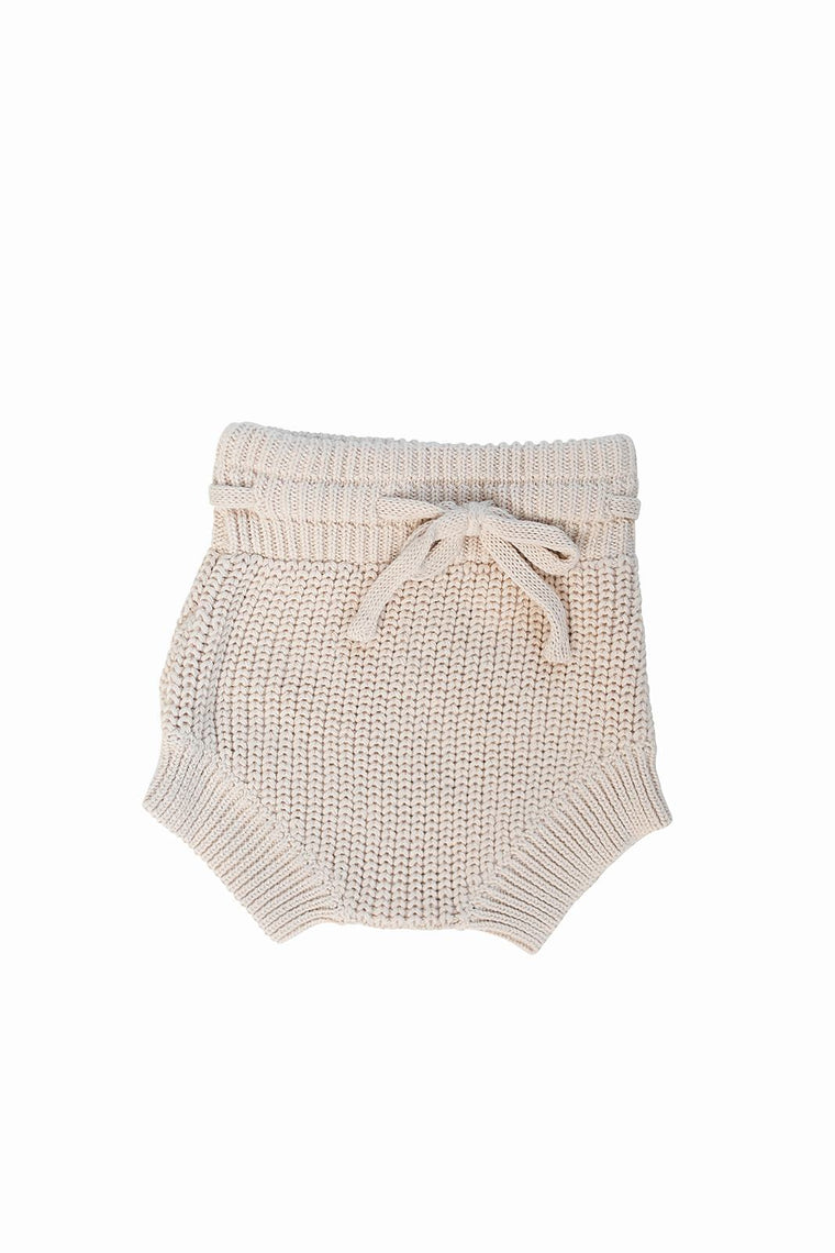 Cream Knit Bloomers