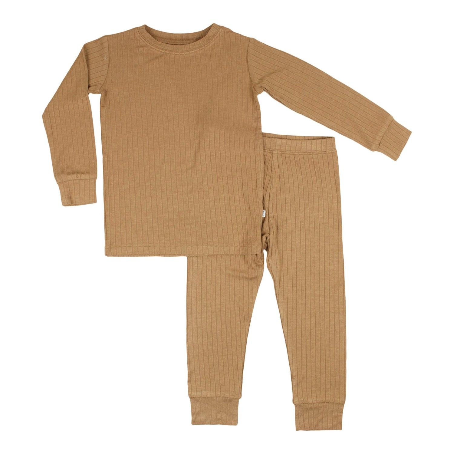 Desert Camel Ribbed Two-Piece Set