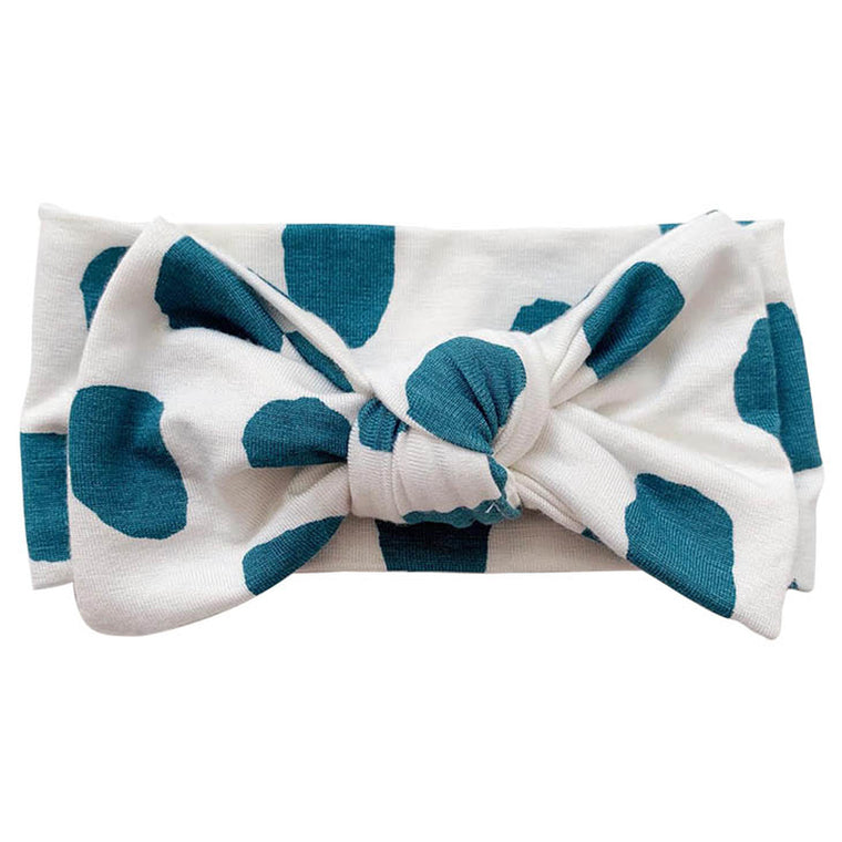 Emerald Dot Knot Bow