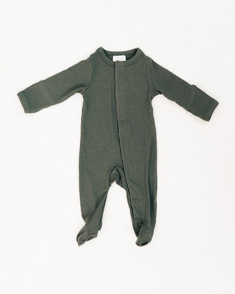 Fern Ribbed Footed One-piece