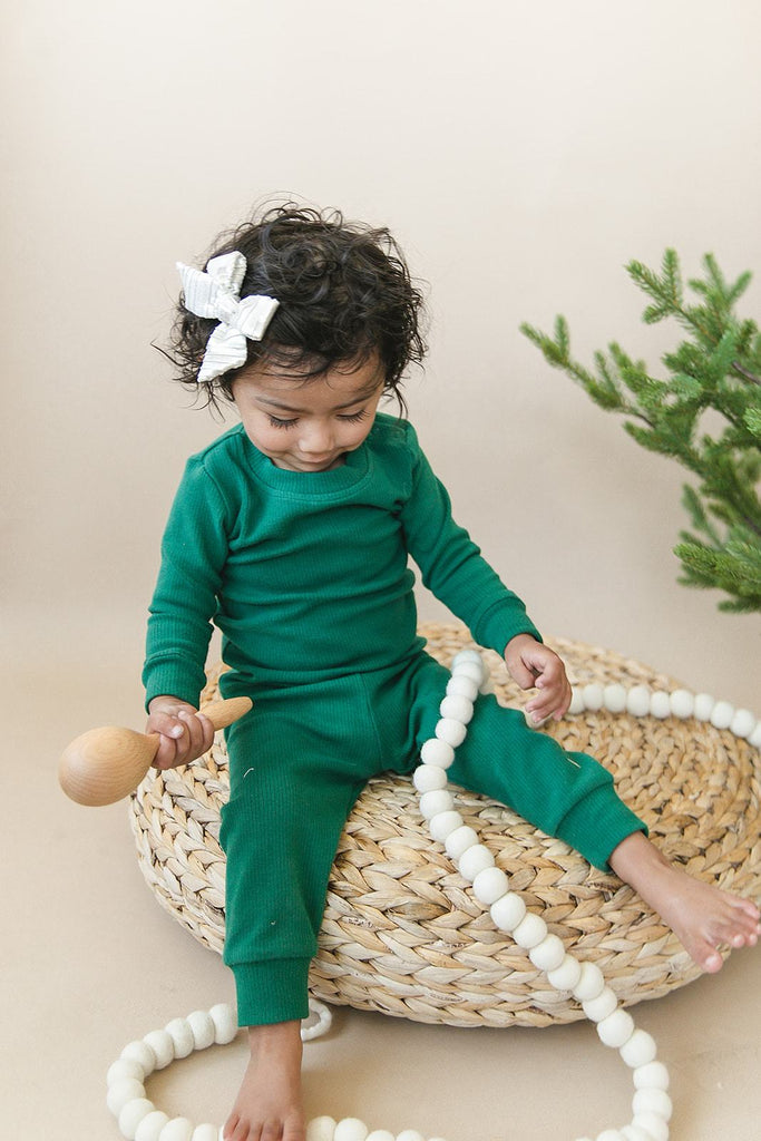 Forest Holiday Ribbed Two-Piece Cozy Set
