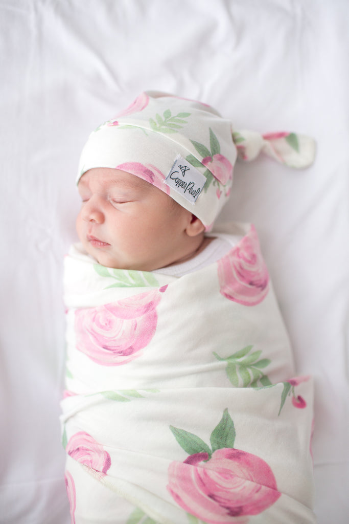 Grace Newborn Top Knot Hat