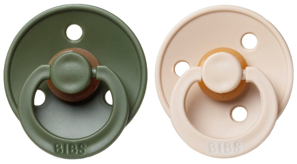 BIBS Natural Rubber Pacifier - Hunter/Vanilla 2-Pack