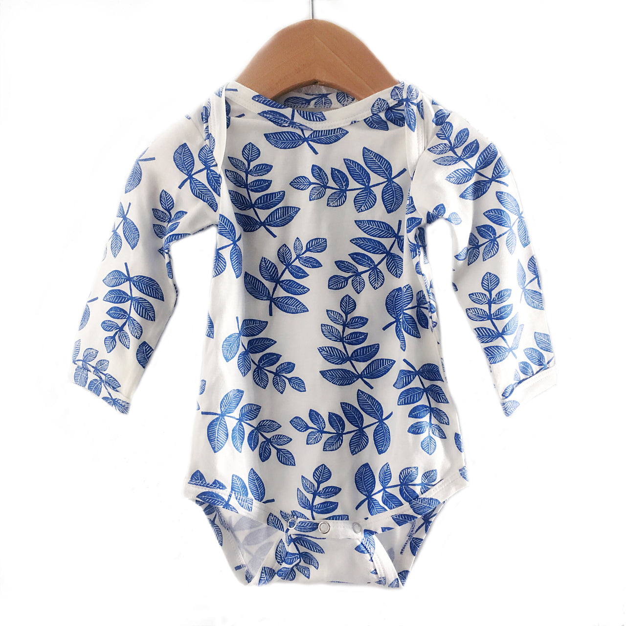 Indigo Fern Long Sleeve Bodysuit