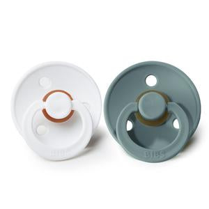 BIBS Natural Rubber Pacifier - Island Sea/White 2-Pack