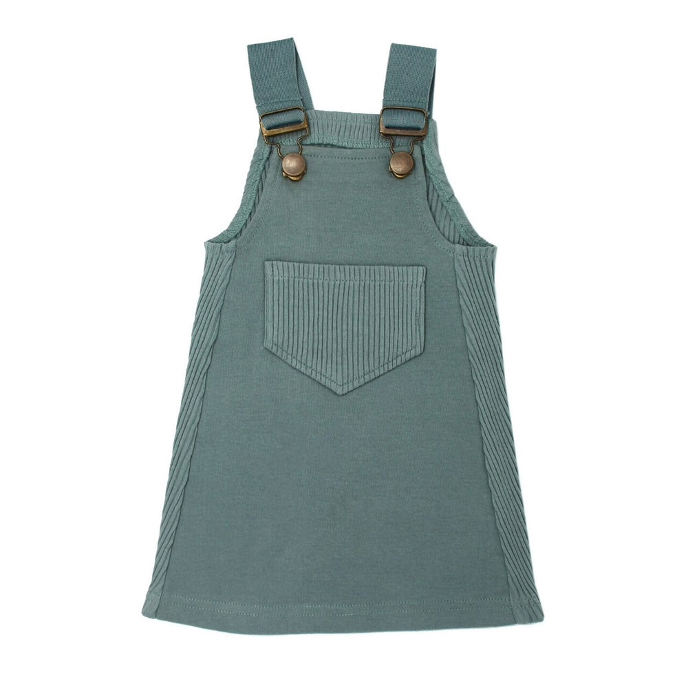 Kids' Ribbed Tank Dress in Jade