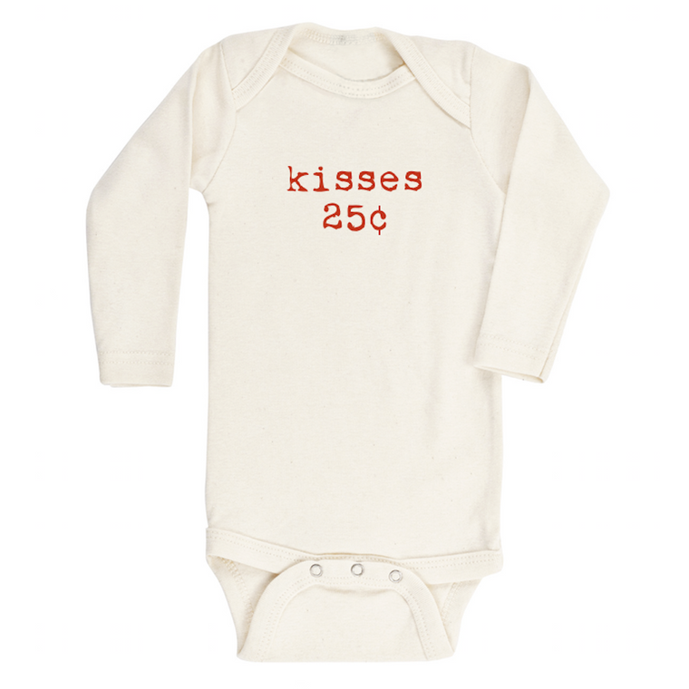 Kisses Organic Long Sleeve Bodysuit