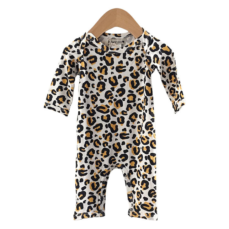 Leopard Long Sleeve Romper