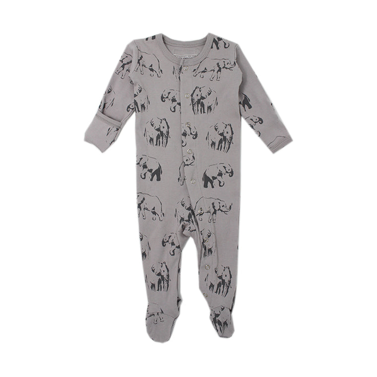 Light Gray Elephant Footed Overall