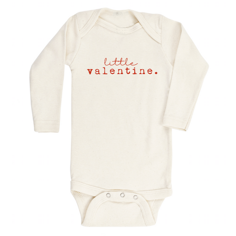 Little Valentine Organic Long Sleeve Bodysuit