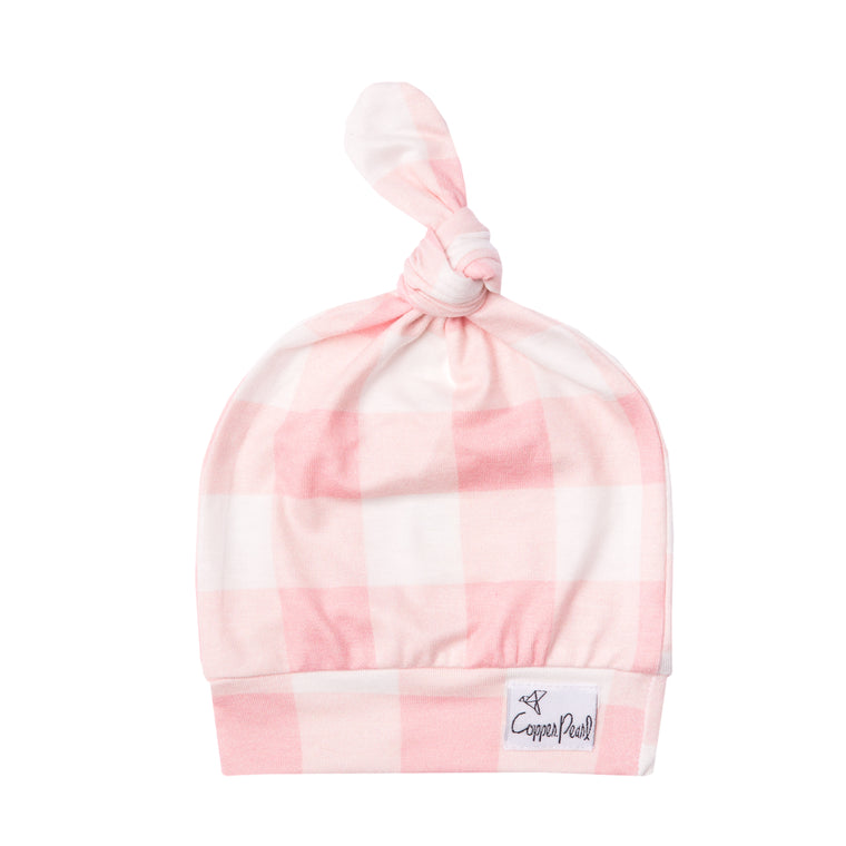 London Newborn Top Knot Hat