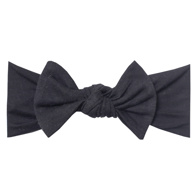 Midnight Knit Headband Bow