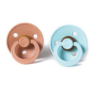 BIBS Natural Rubber Pacifier - Mint/Peach 2-Pack
