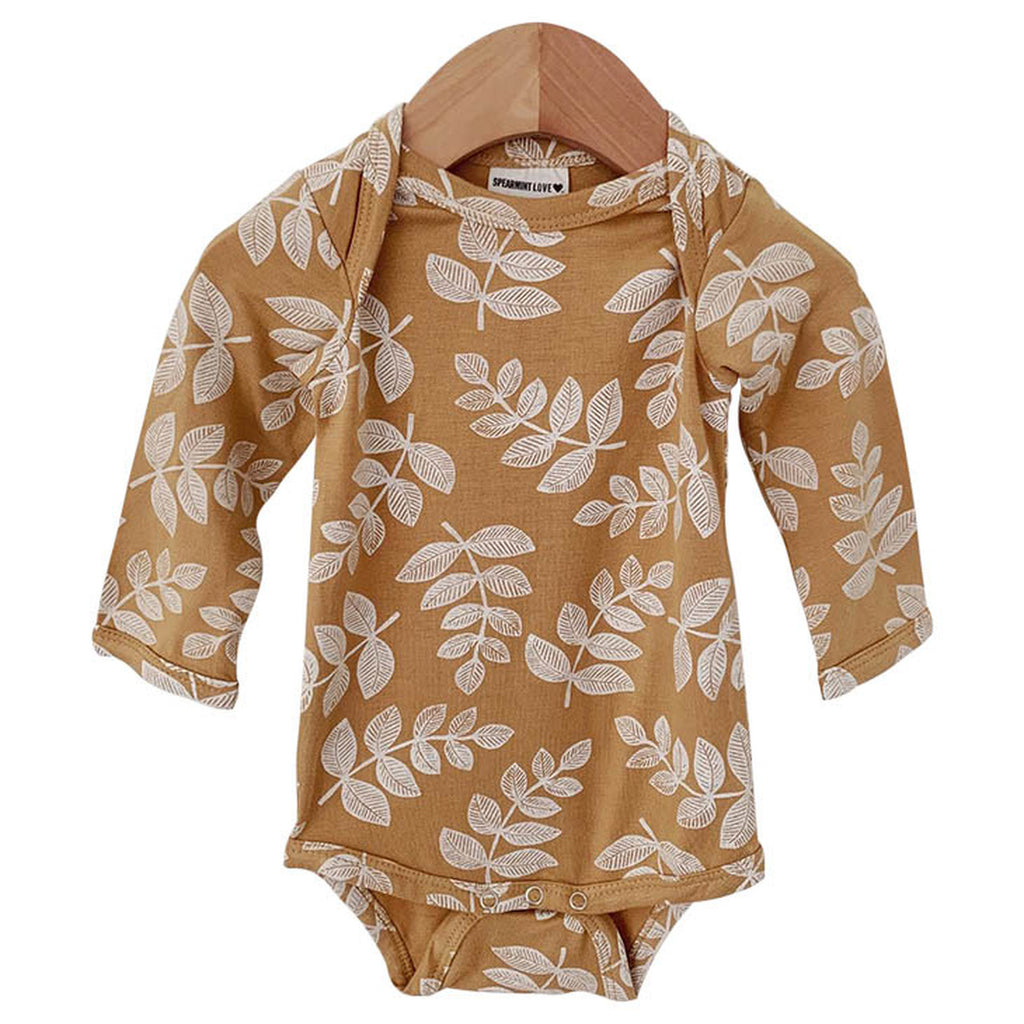Mustard Fern Long Sleeve Bodysuit