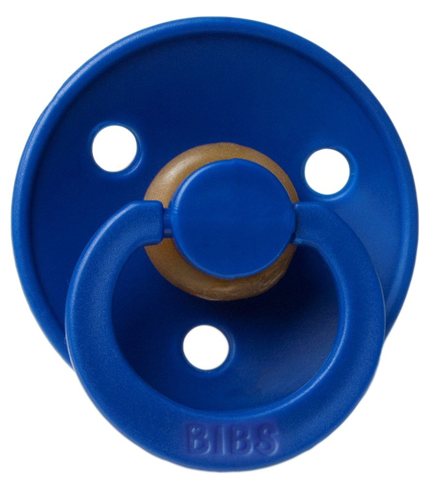 BIBS Natural Rubber Pacifier - Navy/White 2-Pack