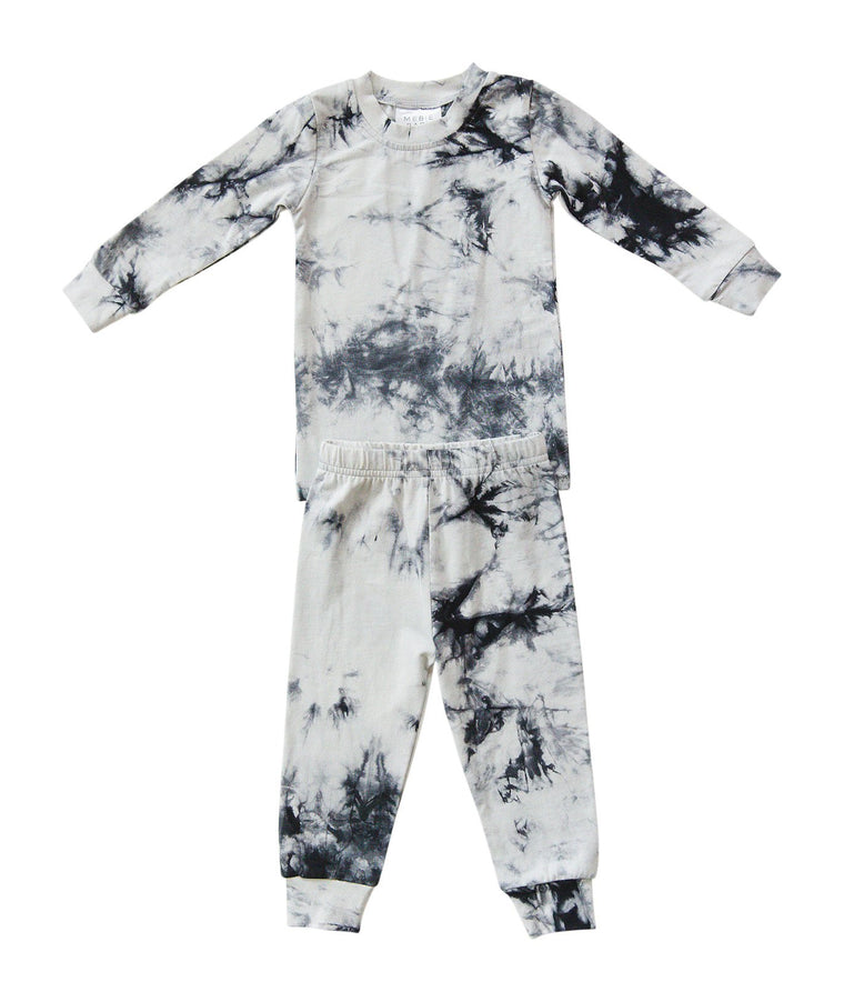 Navy Tie Dye Two-Piece Cozy Set
