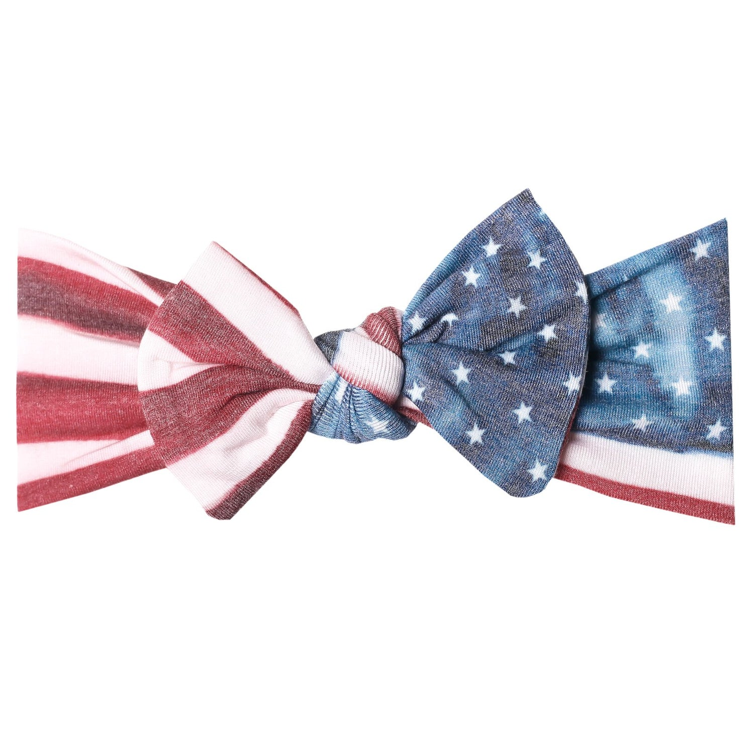 Patriot Knit Headband Bow