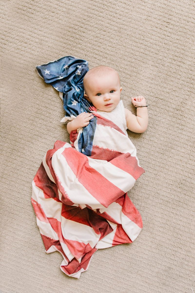 Patriot Knit Swaddle