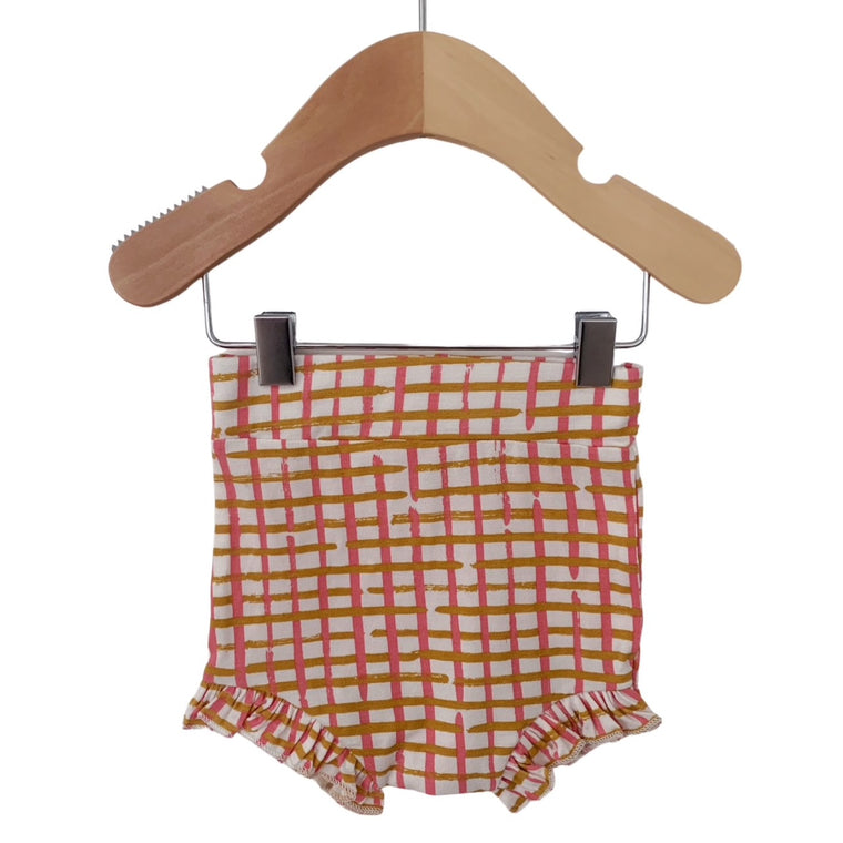 Pink Check Ruffle Bloomers