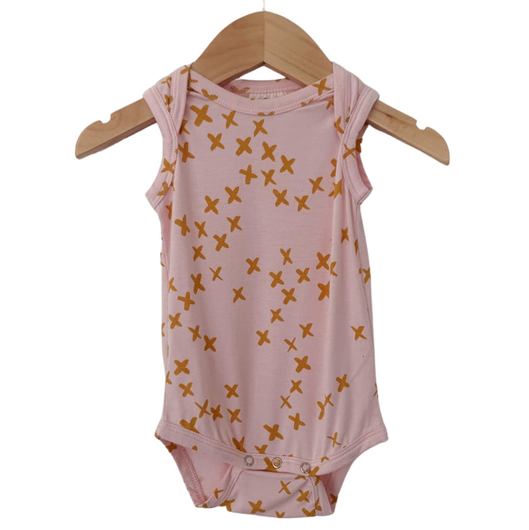 Pink Kisses Sleeveless Bodysuit