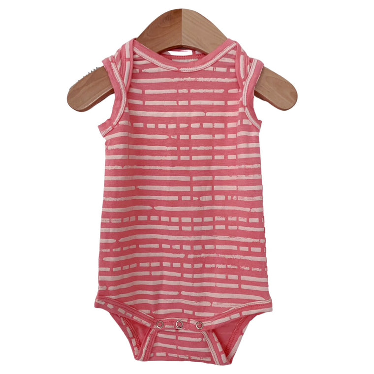 Pink Stripe Sleeveless Bodysuit