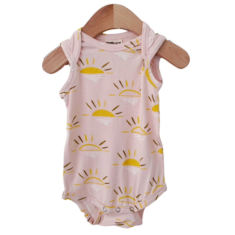 Pink Sun Sleeveless Bodysuit