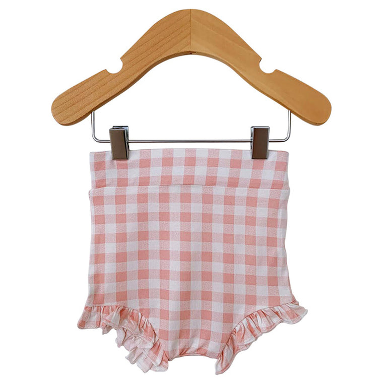 Pink Gingham Ruffle Bloomer