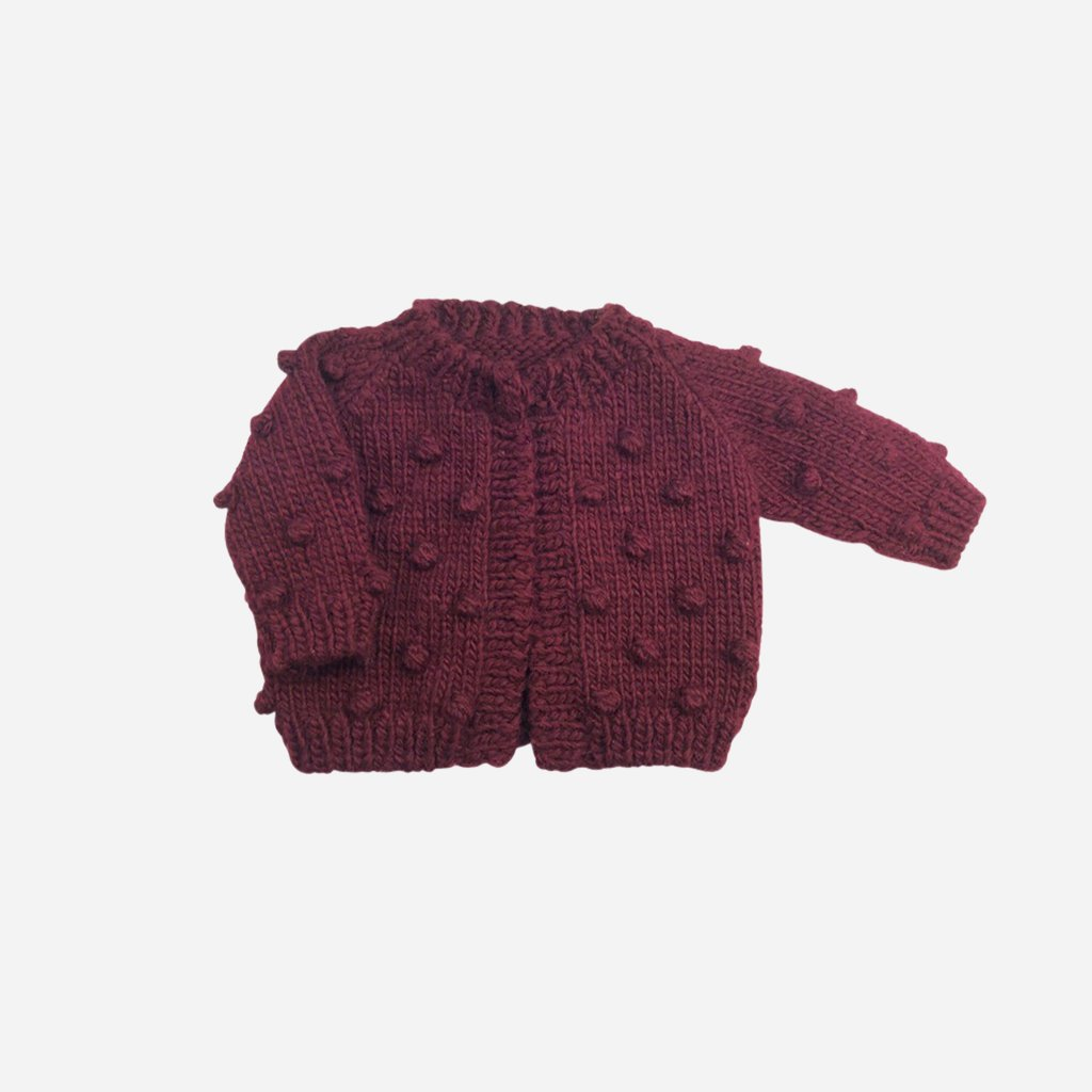 Pomegranate Popcorn Cardigan