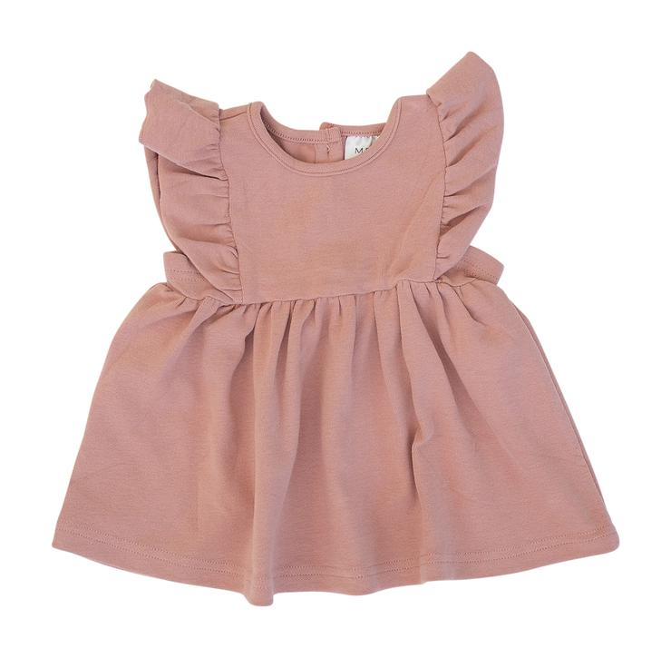 Rose Cotton Ruffle Dress