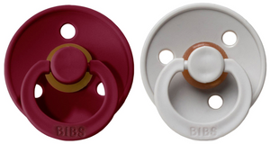 BIBS Natural Rubber Pacifier - Ruby/Sand 2-Pack