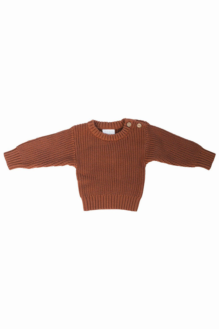 Rust Knit Sweater