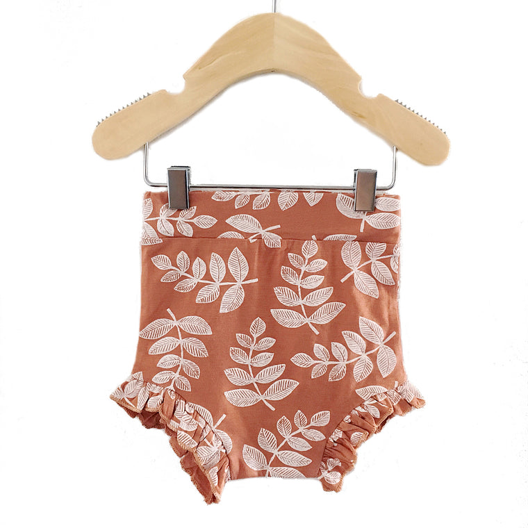 Rust Fern Ruffle Bloomer