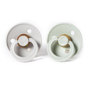 BIBS Natural Rubber Pacifier - Sage/Sand 2-Pack