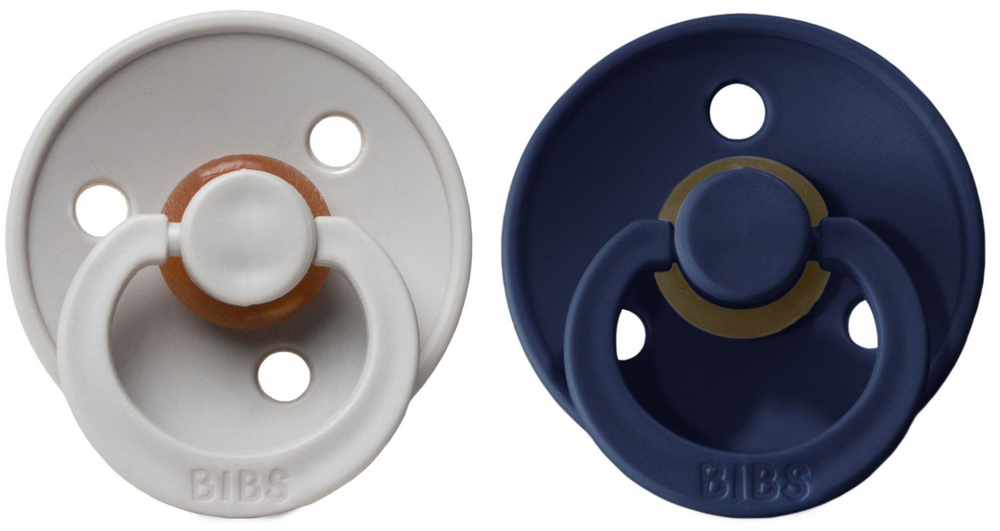 BIBS Natural Rubber Pacifier - Sand/Deep Space 2-Pack
