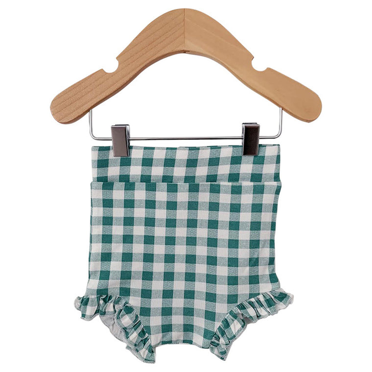 Sea Green Gingham Ruffle Bloomer