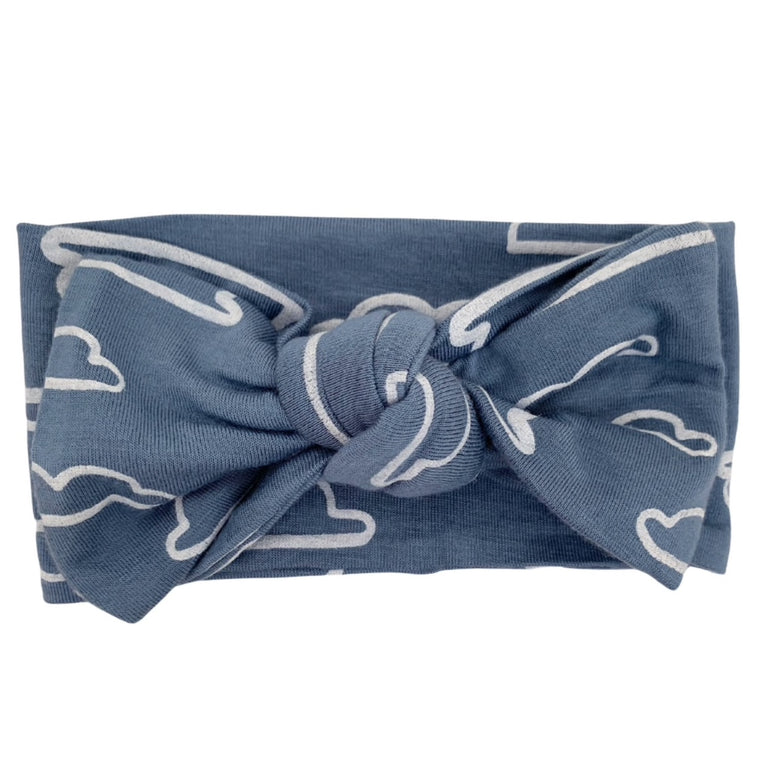 Sky Cloud Knot Headband Bow