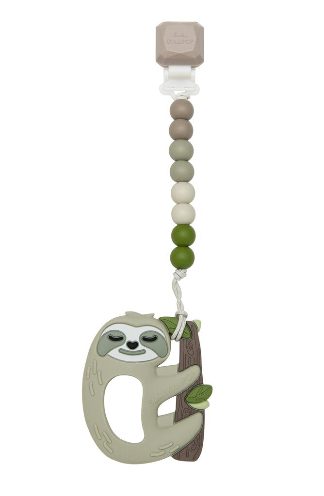 Sloth Silicone Teether Gem Set